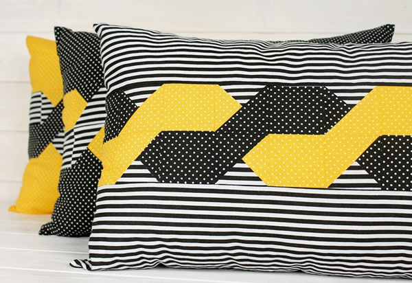 Poduszki w warkocze – z dodatkiem koloru żółtego