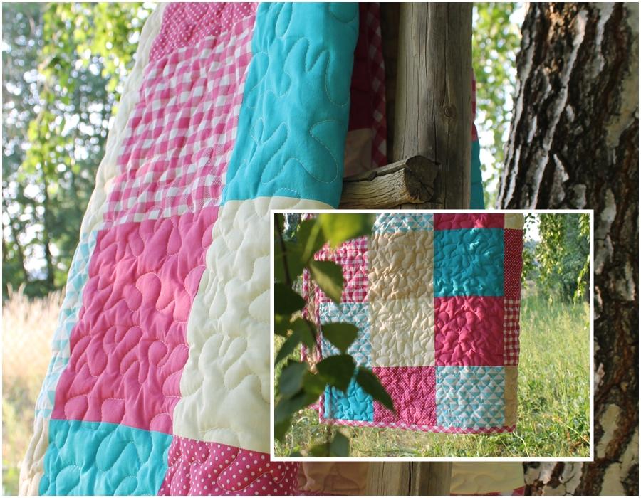 Narzuta patchwork – schemat szycia