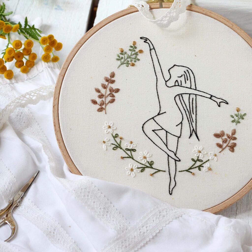 tancerka - haft płaski